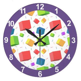 Cute Cubes Wall Clock