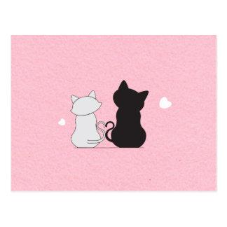 Cute Cuddling Cat Postcard