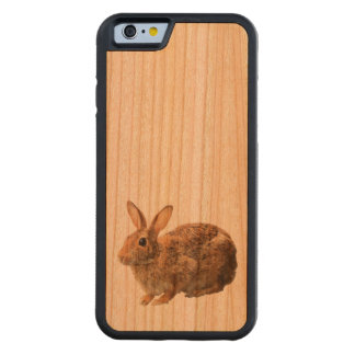 Cute Cuddly Adorable Cottontail Wild Bunny Rabbit Cherry iPhone 6 Bumper