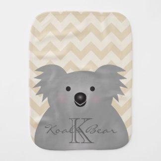 Cute Cuddly Australia Baby Koala Bear Monogram Burp Cloth