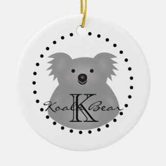 Cute Cuddly Australia Baby Koala Bear Monogram Ceramic Ornament