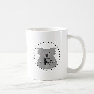 Cute Cuddly Australia Baby Koala Bear Monogram Coffee Mug