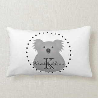 Cute Cuddly Australia Baby Koala Bear Monogram Lumbar Pillow