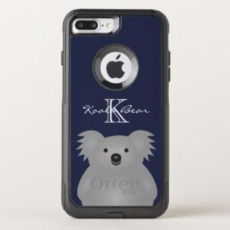 Cute Cuddly Australia Baby Koala Bear Monogram OtterBox Commuter iPhone 8 Plus/7 Plus Case