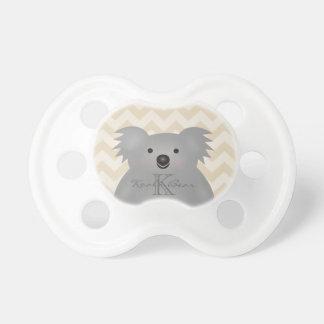 Cute Cuddly Australia Baby Koala Bear Monogram Pacifier