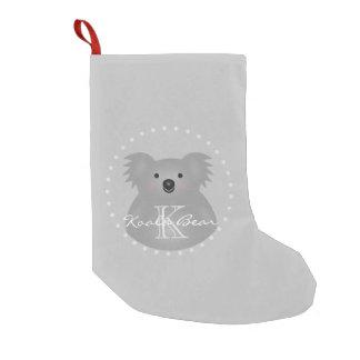Cute Cuddly Australia Baby Koala Bear Monogram Small Christmas Stocking