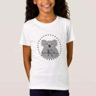 Cute Cuddly Australia Baby Koala Bear Monogram T-Shirt