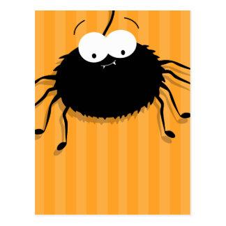 Cute Cuddly Cartoon Spider Halloween Postcards