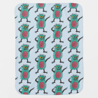 Cute cuddly monsters baby blanket