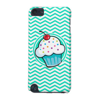 Cute Cupcake; Aqua Green Chevron iPod Touch (5th Generation) Cases