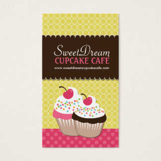 Cute Cupcake Business Cards