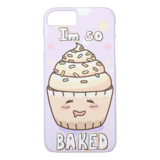 """Cute Cupcake """"I'm So Baked"""" iPhone 7 Case"""