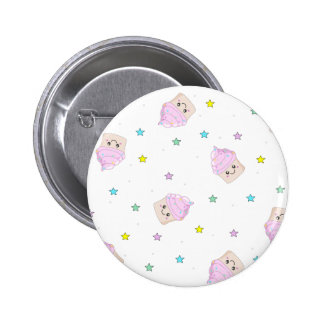 Cute cupcake pattern pinback buttons