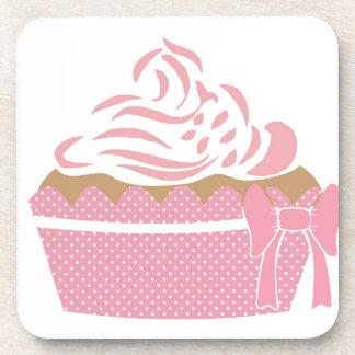 Cute Cupcake Pink Coaster