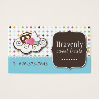Cute Cupcake, Pretzel and Cookie Business Card