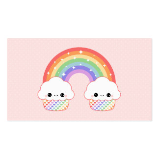 Cute Cupcake Rainbow Pack Of Standard Business Cards