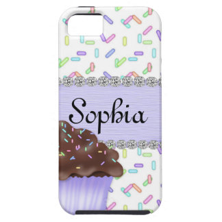 CUTE CUPCAKE SPRINKLES   PURPLE IPHONE 5 CASE