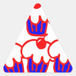 cute cupcake triangle sticker