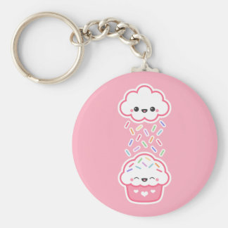 Cute Cupcake with Sprinkles Keychain