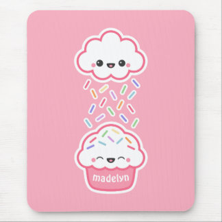 Cute Cupcake with Sprinkles Mouse Pad