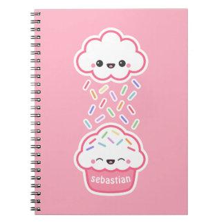 Cute Cupcake with Sprinkles Notebook