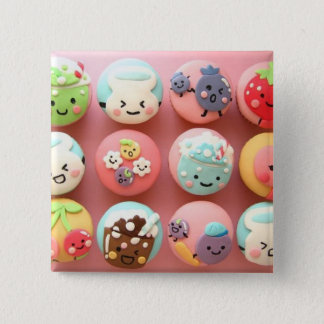 Cute cupcakes 2 inch square button