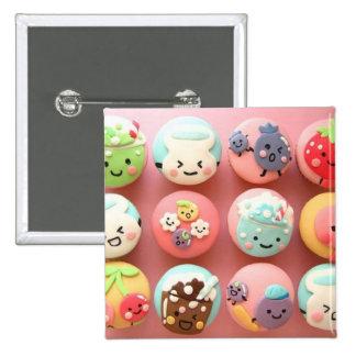 Cute cupcakes 2 inch square button