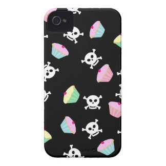 Cute Cupcakes and Skulls Emo Blackberry Case
