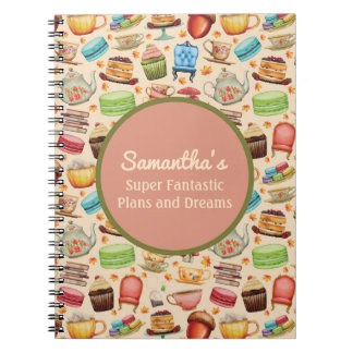 Cute Cupcakes and Teapots Plans and Dreams Journal