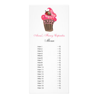 Cute Cupcakes Menu Cards
