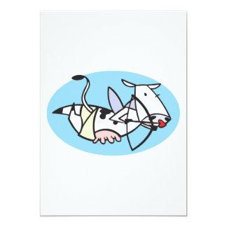 cute cupid cow custom invites