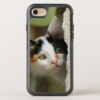Cute Curious Cat Kitten Prying Eyes -protect-Phone OtterBox Symmetry iPhone 7 Case