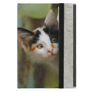 Cute Curious Cat Kitten Prying Eyes - Protection iPad Mini Case