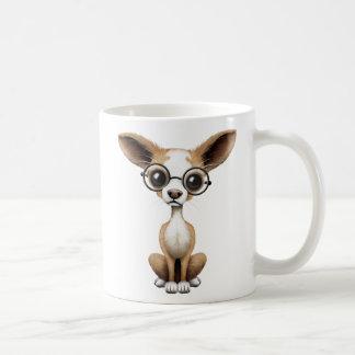 Cute Curious Chihuahua Wearing Eye Glasses Coffee Mug