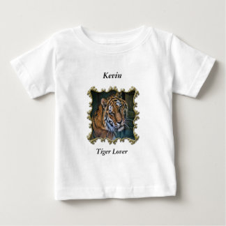Cute Curious cool looking tiger Baby T-Shirt