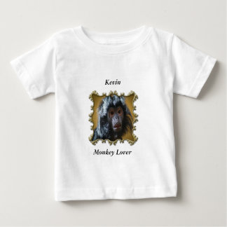 Cute Curious monkey baby with fluffy fur Baby T-Shirt