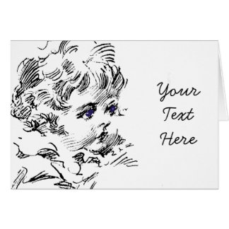 Cute Curly Haired Child Card