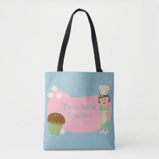 Cute Custom Baker Cartoon Tote Bag