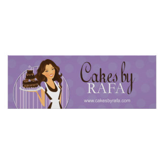 Cute Custom Bakery Poster