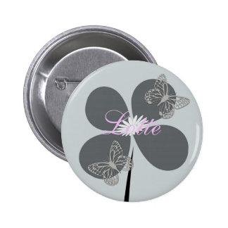 Cute Custom Floral Butterflies Button