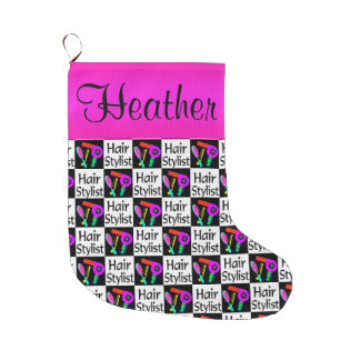 CUTE CUSTOM HAIR STYLIST CHRISTMAS STOCKING LARGE CHRISTMAS STOCKING