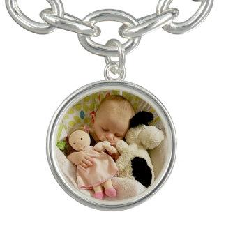 Cute Custom New Baby Charm Bracelet