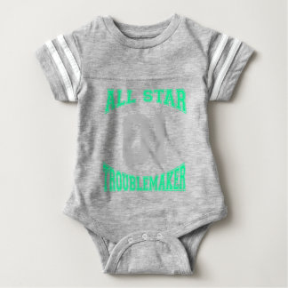 Cute Custom Troublemaker Baby Bodysuit