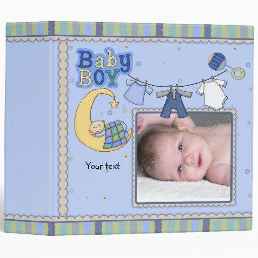 Cute customizable Baby Boy design Binder