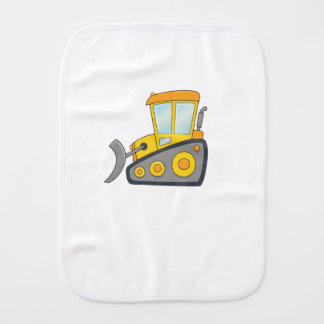 Cute Customizable Bulldozer Burp Cloth