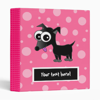 Cute Customizable Chihuahua Binder - Pink