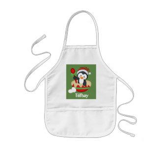 Cute customizable Christmas baking penguin apron