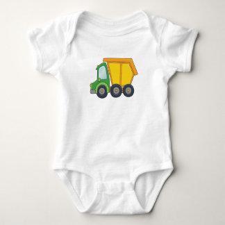 Cute Customizable Dump Truck Baby Bodysuit