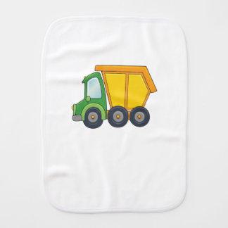 Cute Customizable Dump Truck Burp Cloth
