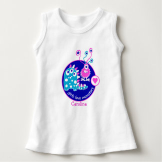 Cute Customizable Funny Little Pink Girl Monsters Shirts